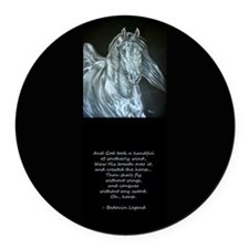 Legend of the Horse Round Car Magnet