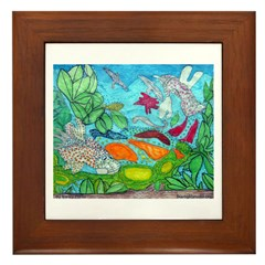 Fish painting by Nancy Porter. Framed Tile