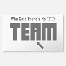 I In Team Decal