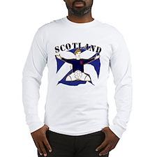 Scotland Saltire Footballer Celebrate Long Sleeve