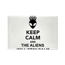 Keep Calm And The Aliens Will Stay Calm Rectangle