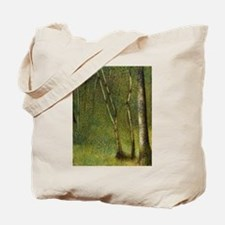 Seurat The Forest at Pontaubert Tote Bag