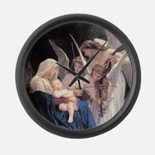 Bouguereau Song Of The Angels Large Wall Clock