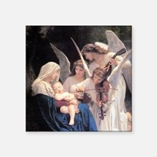 "Bouguereau Song Of The Angels Square Sticker 3"" x"