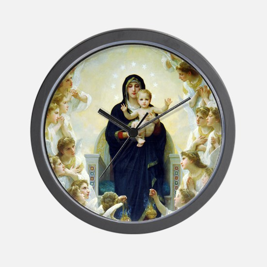 Bouguereau The Virgin With Angels Wall Clock