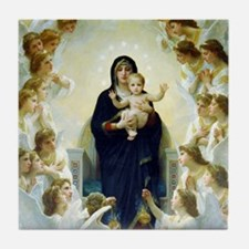 Bouguereau The Virgin With Angels Tile Coaster
