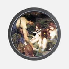 Waterhouse Hylas and the Nymphs Wall Clock