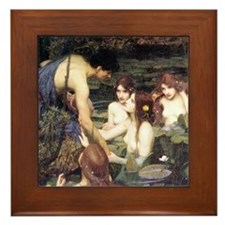 Waterhouse Hylas and the Nymphs Framed Tile