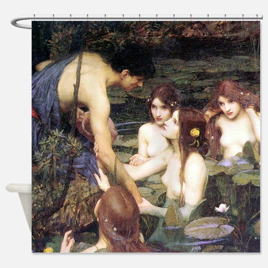 Waterhouse Hylas and the Nymphs Shower Curtain
