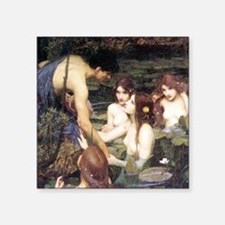Waterhouse Hylas and the Nymphs Square Sticker 3""