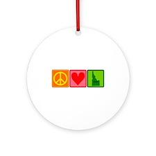 Peace Love Idaho Ornament (Round)