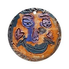 Moon face by Dana Graap. Ornament (Round)