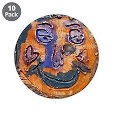 "Moon face by Dana Graap. 3.5"" Button (10 pack"