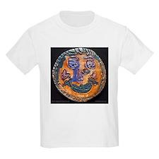 Moon face by Dana Graap. Kids Light T-Shirt