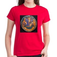 Moon face by Dana Graap. Women's Dark T-Shirt