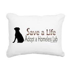 Adopt Homeless Lab Rectangular Canvas Pillow