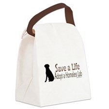 Adopt Homeless Lab Canvas Lunch Bag