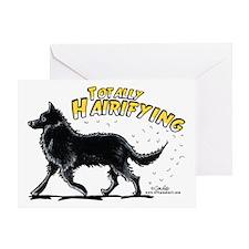 Belgian Sheepdog Hairifying Greeting Card