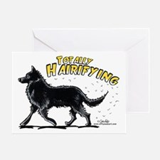 Belgian Sheepdog Hairifying Greeting Card