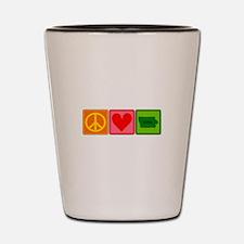Peace Love Iowa Shot Glass