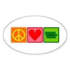 Peace Love Iowa Decal