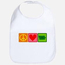 Peace Love Iowa Bib