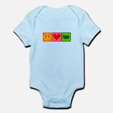 Peace Love Iowa Infant Bodysuit