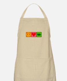 Peace Love Iowa Apron