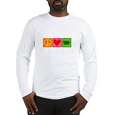 Peace Love Iowa Long Sleeve T-Shirt