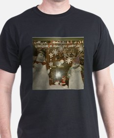 Snow Many Snowmen And Stars Two T-Shirt