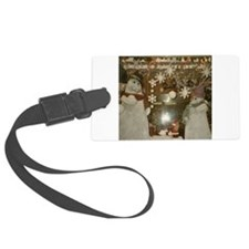 Snow Many Snowmen And Stars Two Luggage Tag
