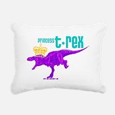 Princess T-Rex Rectangular Canvas Pillow