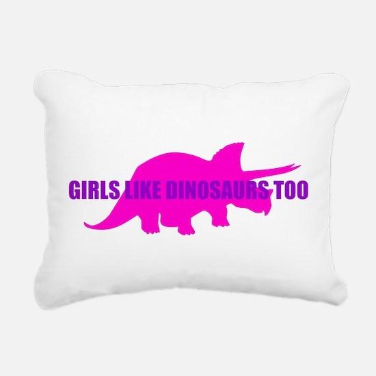 Girls Like Dinosaurs Too - Triceratops Rectangular
