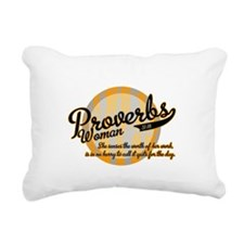 Proverbs Woman Rectangular Canvas Pillow
