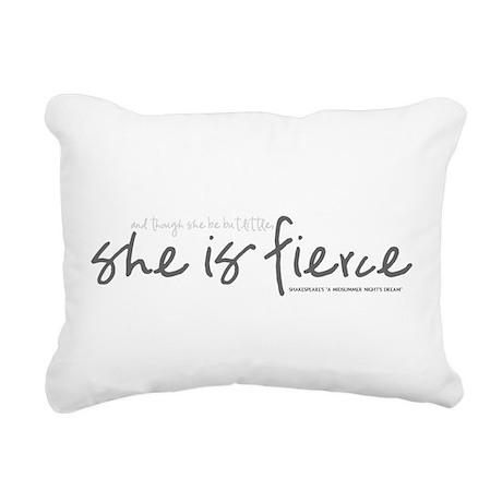She is Fierce - Handwriting 1 Rectangular Canvas P