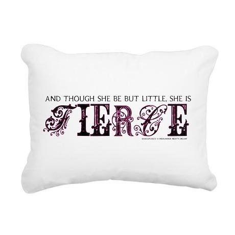She is Fierce - Eclectic Rectangular Canvas Pillow