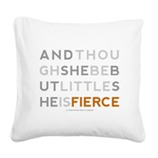 She is Fierce - Block Square Canvas Pillow