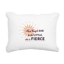 She Is Fierce - Burst Rectangular Canvas Pillow