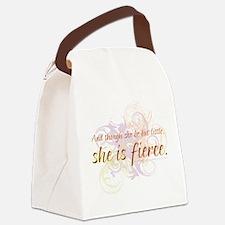 She is Fierce 2 Canvas Lunch Bag