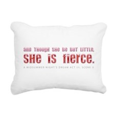 she-is-fierce.jpg Rectangular Canvas Pillow