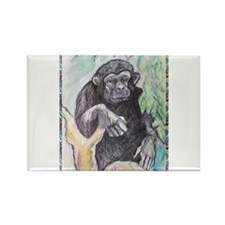 Chimpanzee! Wildlife art! Rectangle Magnet