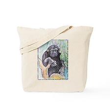 Chimpanzee! Wildlife art! Tote Bag