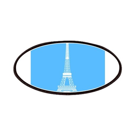 Eiffel Tower on Turquoise Blue Patches