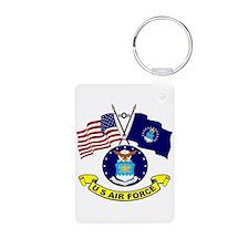 USAF-USA Flags Keychains
