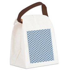 Blue star pattern Canvas Lunch Bag