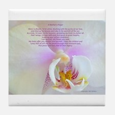 """A Mother's Prayer"" Photo Poster Tile Coaster"