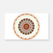 Detailed Orange Earth Mandala Rectangle Car Magnet