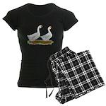 White African Geese Women's Dark Pajamas