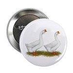 """White African Geese 2.25"""" Button (10 pack)"""