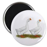 White African Geese Magnet